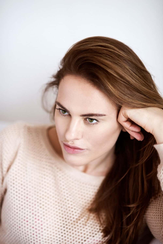 Melania Dalla Costa primo piano maglia rosa di Roberta Krasnig