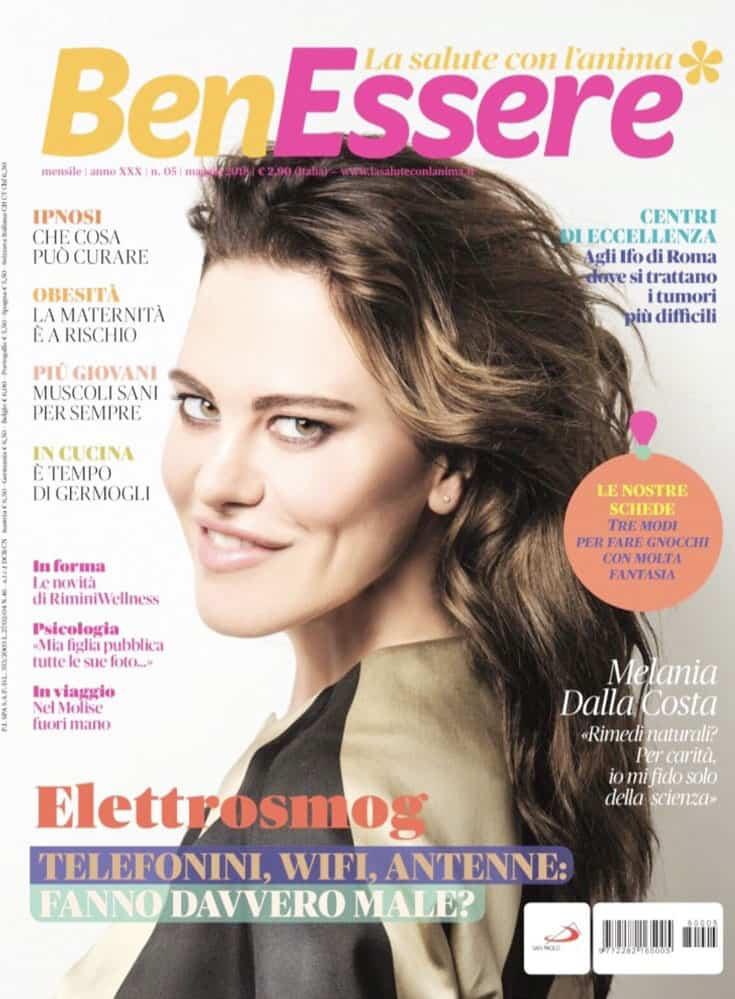 Cover rivista Benessere, Melania Dalla Costa