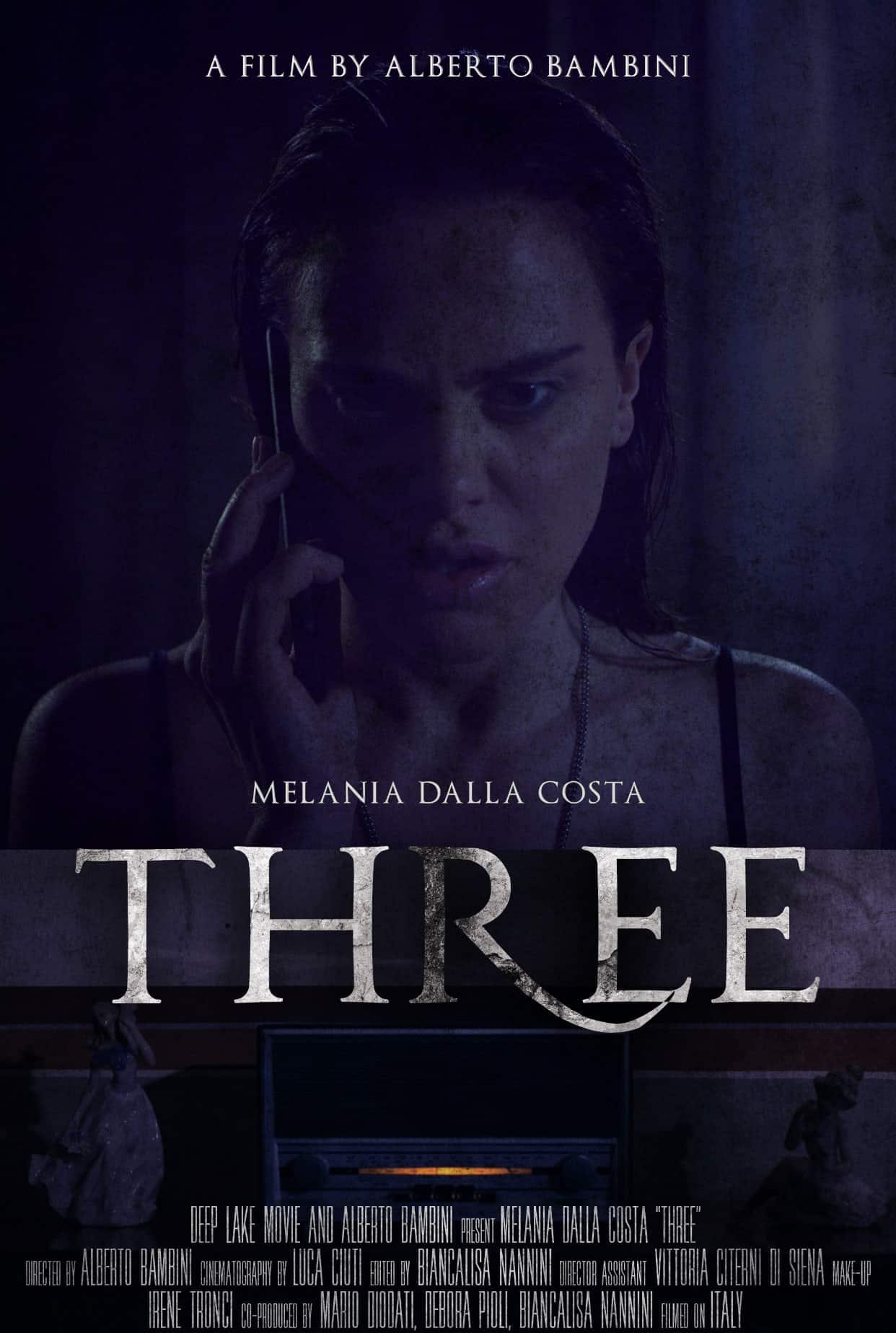 Film Three - locandina - Attrice Melania Dalla Costa