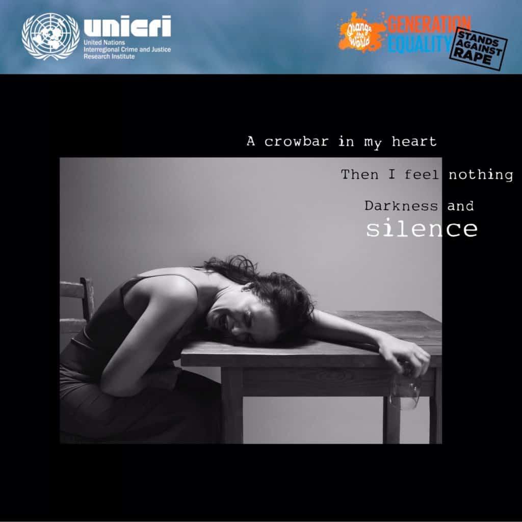 Campagna Nazioni UNITE UNICRI - Melania Dalla Costa contro la violenza sulle donne