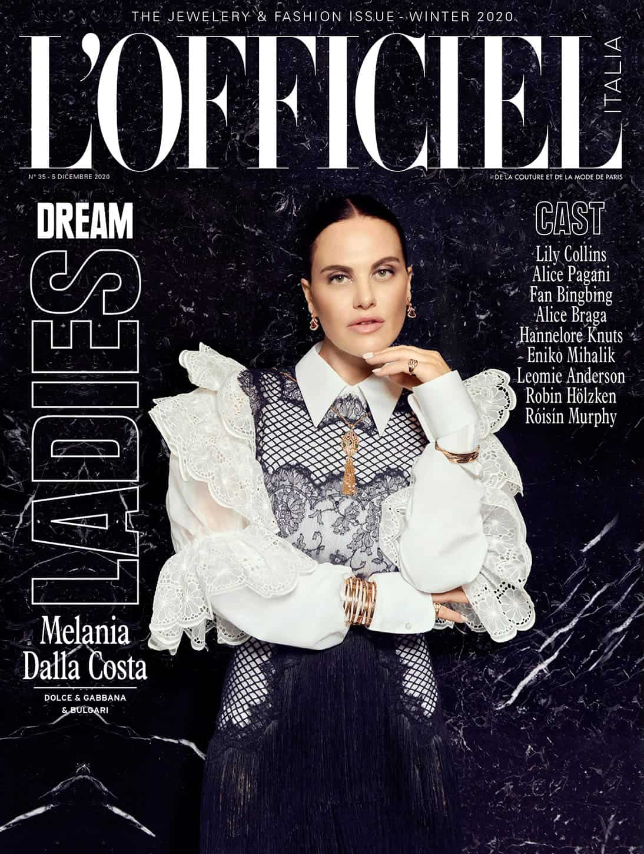Melania Dalla Costa Cover L'Officiel Italia