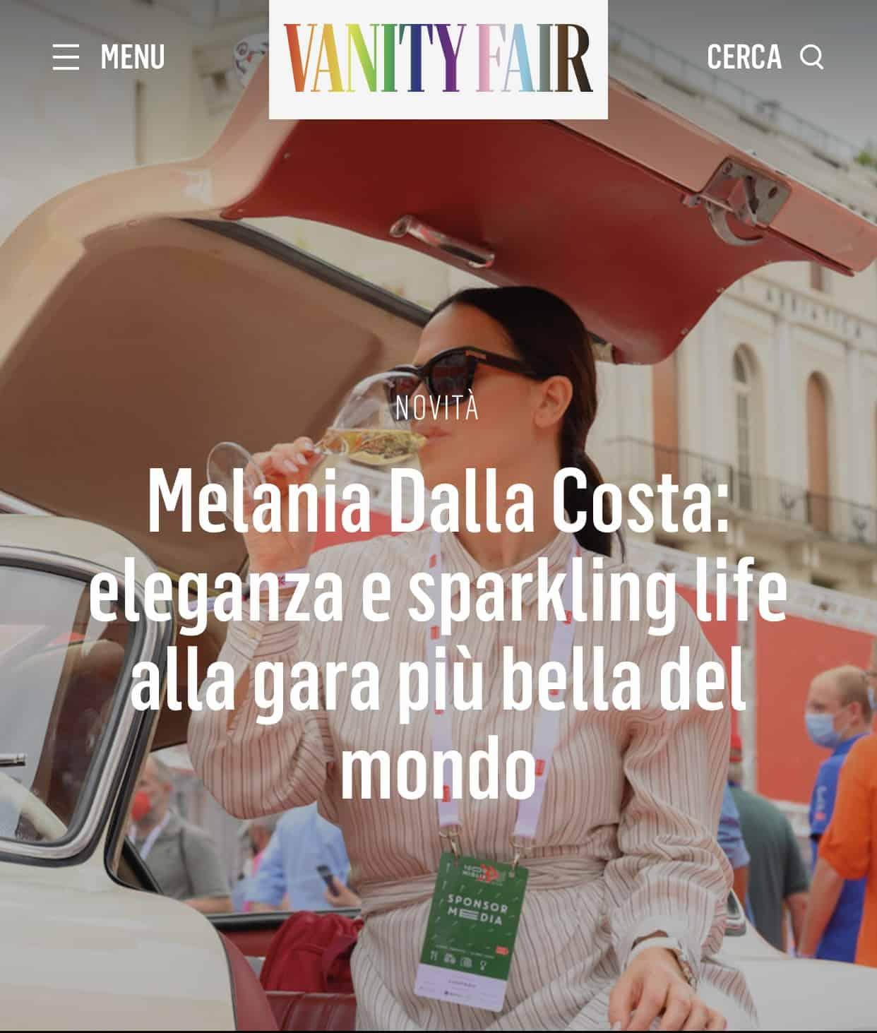 Melania Dalla Costa Vanity Fair 1000 Miglia