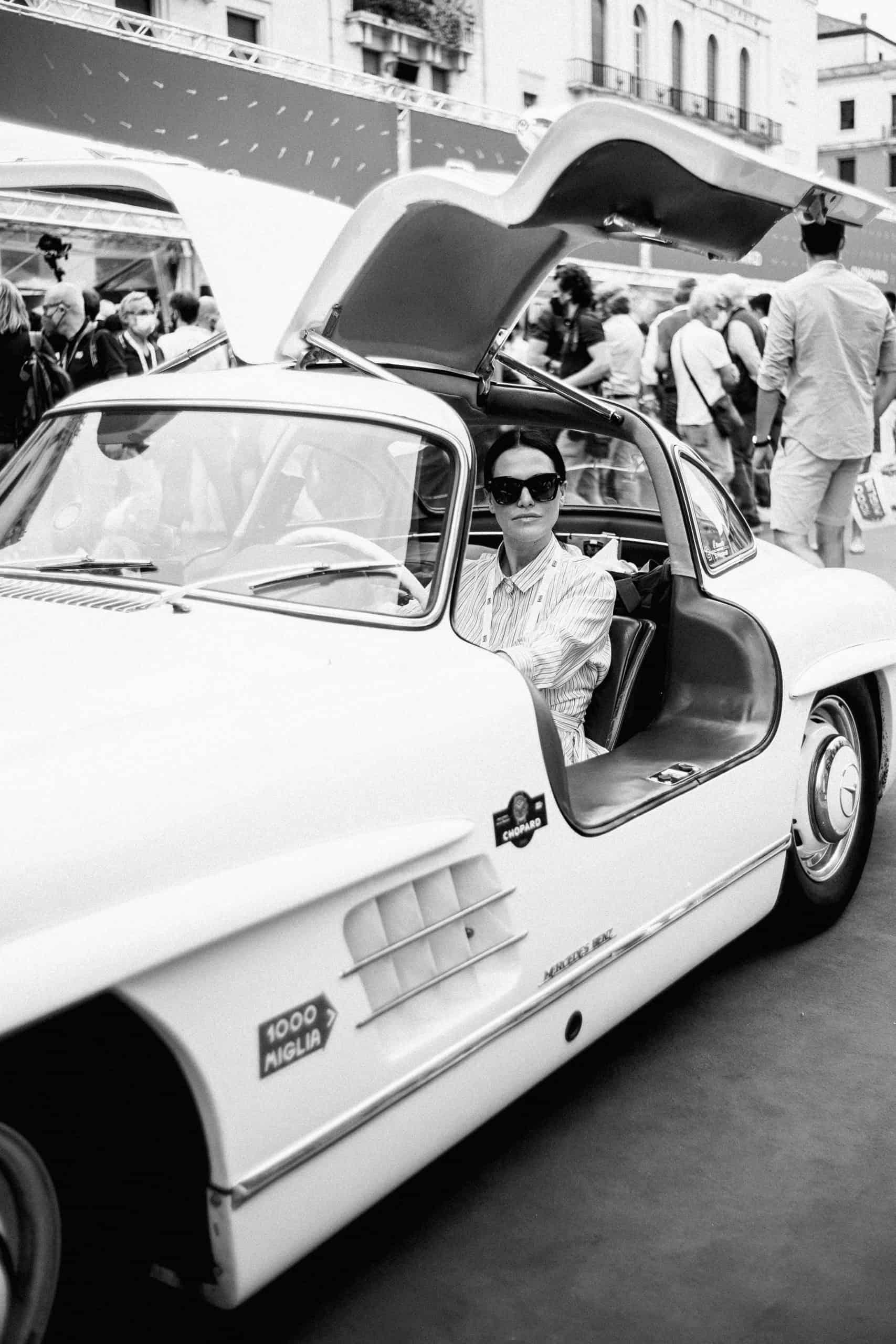Melania Dalla Costa su Mercedes 1000 Miglia